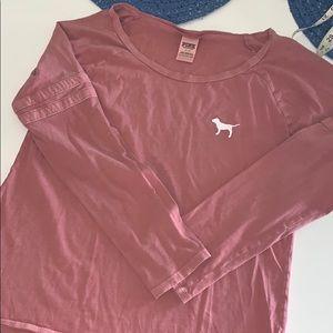 Pink Victoria's Secret cotton long sleeves top